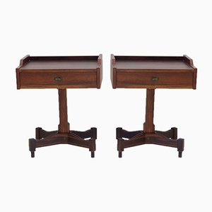 Model SC 50 Rosewood Nightstands by Claudio Salocchi for Luigi Sormani, 1960s, Set of 2