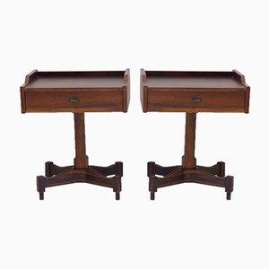 Tables de Chevet Modèle SC 50 en Palissandre par Claudio Salocchi pour Luigi Sormani, 1960s, Set de 2