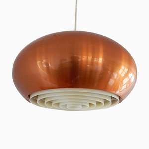 Copper Medio Pendant Lamp by Johannes Hammerborg for Fog & Mørup, 1960s