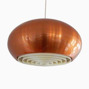 Lampe à Suspension Medio en Cuivre par Johannes Hammerborg pour Fog & Mørup, 1960s
