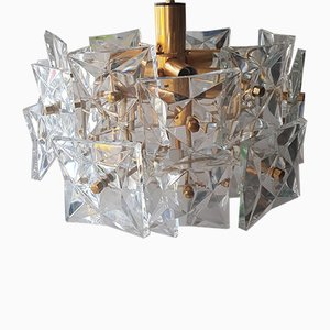 Kronleuchter aus Kristallglas von Kinkeldey, 1960er
