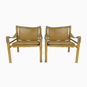Mid-Century Sirocco Lounge Chairs by Arne Norell, 1960s, Set of 2