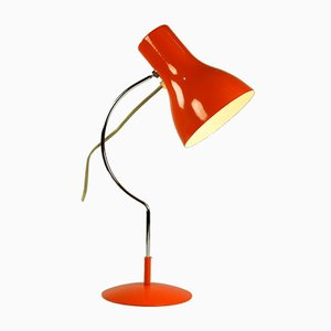 Orangefarbene Mid-Century Modell 0521 Tischlampe von Josef Hurka für Napako