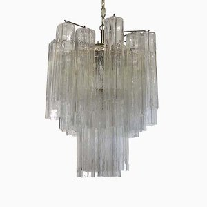 Vintage Italian Murano Glass Tube Chandelier, 1960s