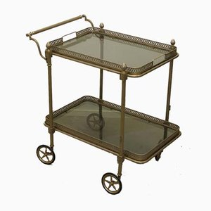 French Brass Cocktail Trolley from Maison Jansen, 1950s