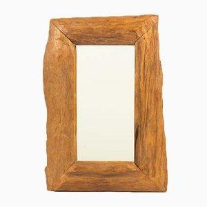Spiegel mit Rahmen aus Nussholz, 1950er