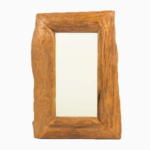 Walnut Mirror, 1950s
