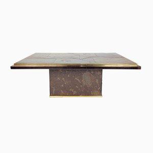 Table Basse en Pierre et Bronze par Ad Stam pour Fedam, 1970s