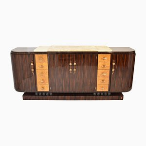 Art Deco Sideboard in Macassar Ebony by Jaen Fauré