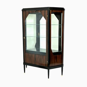 Makassar Veneer Display Cabinet, 1930s