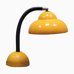 Yellow Metal Gooseneck Desk Lamp, 1960s