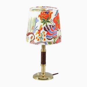 Lámpara de mesa con mango de cuero de Kalmar, años 60