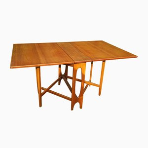 Drop-Leaf Teak Dining Table by Bendt Winge for Kleppes Møbelfabrikk, 1950s