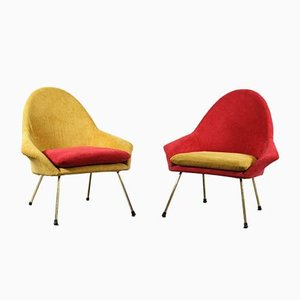 2 Tone Italian Cocktail Armchairs, 1950s, Set of 2