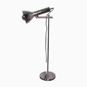 Lámpara de mesa cromada, años 70