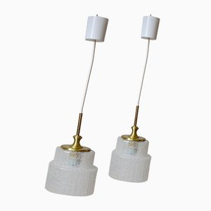 Vintage Ceiling Lamps from Doria Leuchten, Set of 2