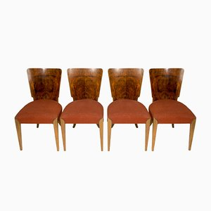 Art Deco H-214 Dining Chairs by Jindřich Halabala for UP Závody, 1950s, Set of 4