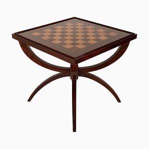 Mesa de juegos de caoba, años 20