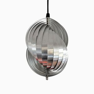 Vintage Spiral Kinetics Pendant Lamp by Henri Mathieu