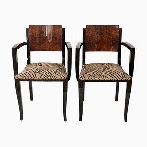 Chaises d'Appoint en Noyer, 1930s, Set de 2
