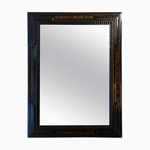 Mirror with a Faux Walnut with an Ebonized Ripple Frame, 1920s