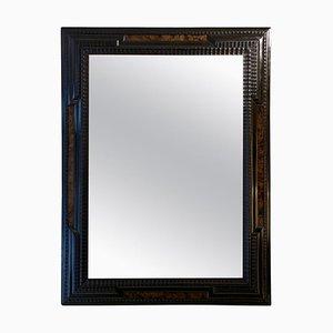 Spiegel mit ebonisiertem Holzrahmen in Nussholz-Optik, 1920er