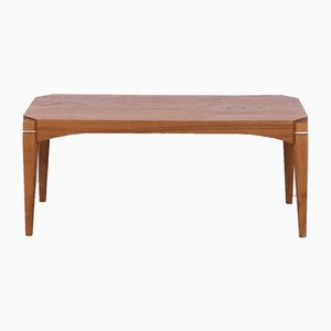 Mid-Century Scandinavian Teak and Metal Coffee Table, 1960s