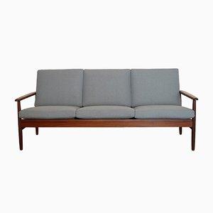 Dänisches Sofa mit Gestell aus Teak, 1960er