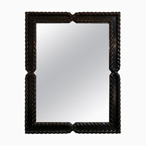 Mid-century Ebonized Oak Mirror by Valenti