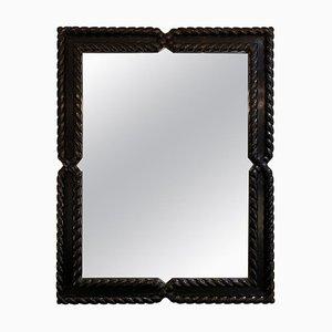 Mid-Century Spiegel mit Rahmen aus ebonisierter Eiche von Valenti