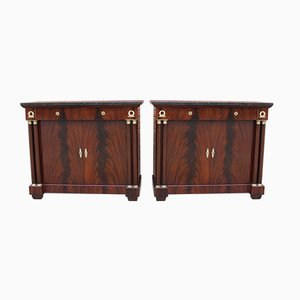 Empire Style Sideboards, 1920s, Set of 2