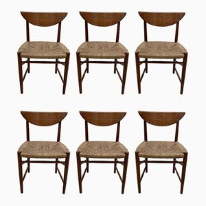 Mid-Century 316 Dining Chairs by Peter Hvidt & Orla Mølgaard-Nielsen for Søborg Møbelfabrik, Set of 6