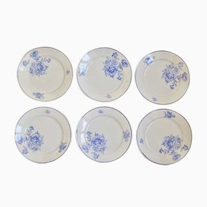 Plates from Keller & Guerin, 1940s, Set of 6