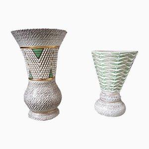 Französische Art Déco Vasen von Jacques Breugnot, 1950er, 2er Set