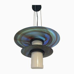 Large Murano Glass Ceiling Lamp by Missoni for Arte Vetro Murano, 1980s