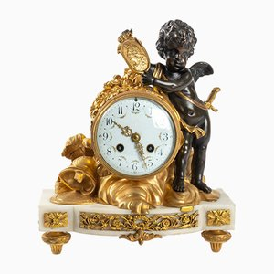 Horloge Antique en Marbre Blanc