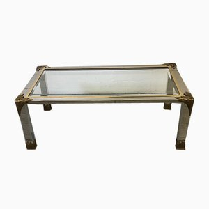 Chrome and Brass Coffee Table, 1980s
