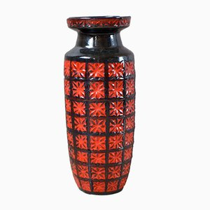 Large Fat Lava Vase from Scheurich, 1960s
