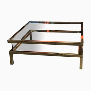 Vintage Sliding Top Coffee Table from Maison Jansen, 1970s