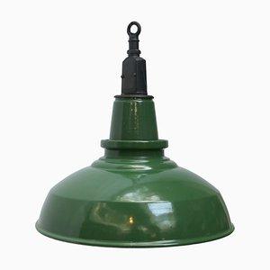 Industrielle britische Vintage Deckenlampe, 1950er