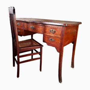 Vintage Art Deco Desk and Chair Set