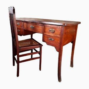 Vintage Art Déco Schreibtisch & Stuhl