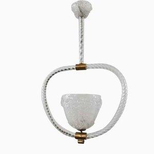 Lámpara de techo de Barovier & Toso, años 50