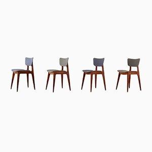 6517 Beistellstühle von Roger Landault für Boutier, 1950er, 4er Set