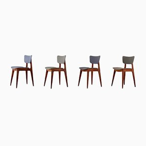 6517 Side Chairs by Roger Landault for Boutier, 1950s, Set of 4