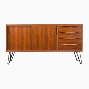 Sideboard aus Nussholzfurnier im skandinavischen Stil, 1950er