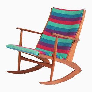 Rocking Chair en Teck par Holger George Jensen pour Tønder Møbelværk, Danemark, 1958
