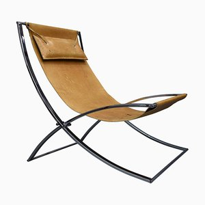 Folding Model Louisa Lounge Chair by Marcello Cuneo for Mobel Italia, 1970s