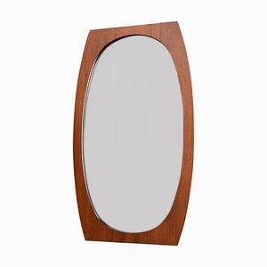 Italienischer Spiegel mit Rahmen aus Teak, 1950er
