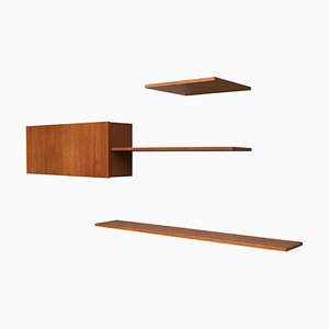 Teak Wall Units from Banz Bord, 1960s, Set of 3